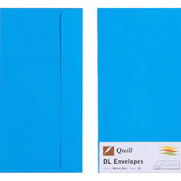 QUILL DL COLOURED ENVELOPES MARINE BLUE PACK 25