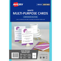 AVERY 947004 L7421 LASER POST CARDS 139.37 X 97.29MM 4UP 150GSM PACK 25 SHEETS