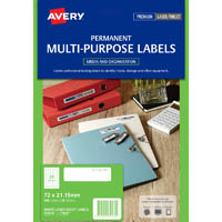 AVERY 959032 L7665 MINI DATA LABEL LASER WHITE PACK 600