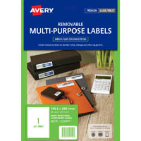 AVERY 959150 L7167REV REMOVEABLE MULTI-PURPOSE LABEL 1UP WHITE PACK 25