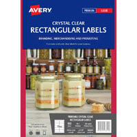 AVERY 980019 L7113 CRYSTAL CLEAR RECTANGLE LABEL 10UP PACK 10