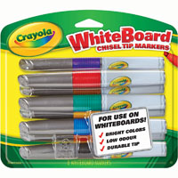 CRAYOLA VISI-MAX DRY ERASE WHITEBOARD MARKERS ASSORTED PACK 8