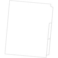 DOCUDEX INDEX DIVIDER MANILLA REVERSE COLLATED 1-3 TAB UNPUNCHED 200GSM A4 WHITE BOX 65