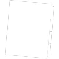 DOCUDEX DIVIDER 4 CUT TAB UNPUNCHED 150GSM A4 WHITE PACK 60