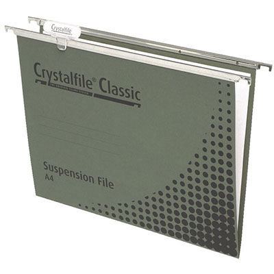 Image for CRYSTALFILE SUSPENSION FILES CLASSIC FOOLSCAP WITH INDICATOR TABS AND INSERTS BOX 50 from Axsel Office National