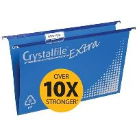 CRYSTALFILE SUSPENSION FILES POLYPROPYLENE BLUE PACK 20