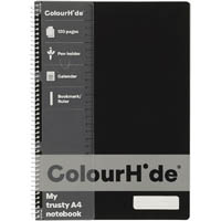 COLOURHIDE MY TRUSTY NOTEBOOK 120 PAGE A4 BLACK