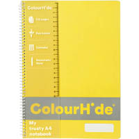 COLOURHIDE MY TRUSTY NOTEBOOK 120 PAGE A4 FLUORO YELLOW