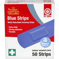 ST JOHN BLUE STRIPS FOR FOOD PREPARATION PACK 50