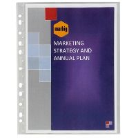 MARBIG SHEET PROTECTORS BOUND A4 PACK 10