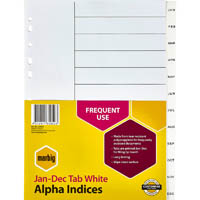 MARBIG INDEX DIVIDER PP JAN-DEC TAB A4 WHITE