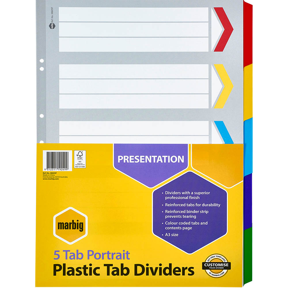 A3 Dividers
