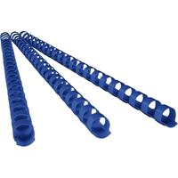 REXEL PLASTIC BINDING COMB ROUND 21 LOOP 6MM A4 BLUE BOX 100