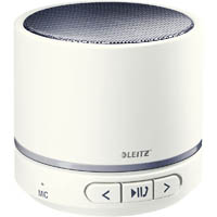 LEITZ WOW MINI MOBILE BLUETOOTH SPEAKER WHITE