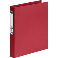 MARBIG RING BINDER PE 25MM 2D A4 DEEP RED