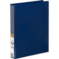 MARBIG CLEAR VIEW INSERT RING BINDER 2D 25MM A4 BLUE