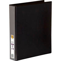 MARBIG CLEAR VIEW INSERT RING BINDER 3D 38MM A4 BLACK
