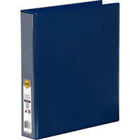 MARBIG CLEAR VIEW INSERT RING BINDER 4D 38MM A4 BLUE