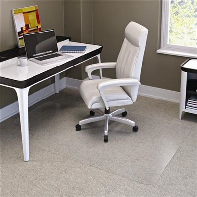 Image for MARBIG CHAIRMAT PVC KEYHOLE CARPET 1140 X 1340MM CLEAR from The Paper Bahn Office National