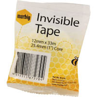 MARBIG TAPE INVISIBLE 12MM X 33M 25.4MM CORE