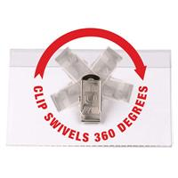 REXEL CONVENTION CARD HOLDERS SWIVEL CLIP PACK 50