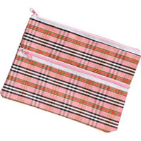 MARBIG GIANT 2 ZIP TARTAN PENCIL CASE 375 X 264MM