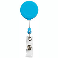 REXEL BADGE REEL SOFT TOUCH BLUE