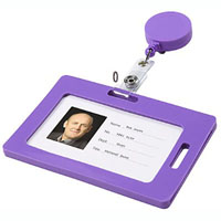 REXEL CARD HOLDER SOFT TOUCH PURPLE