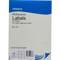INITIATIVE MULTI-PURPOSE LABELS 14UP 99.1 X 38.1MM PACK 100