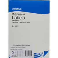 INITIATIVE MULTI-PURPOSE LABELS 21UP 63.5 X 38.1MM PACK 100