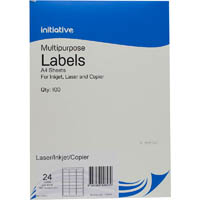 INITIATIVE MULTI-PURPOSE LABELS 24UP 64 X 33.8MM PACK 100