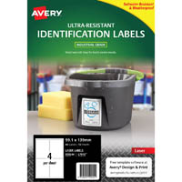 AVERY 959244 ULTRA-RESISTANT OUTDOOR LABELS 99.1 X 139MM WHITE PACK 10