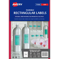 AVERY 980054 L7148 DURABLE RECTANGULAR LABELS LASER 10UP PACK 100