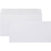 CUMBERLAND DLX ENVELOPES PLAIN SELF SEAL 80GSM 120 X 235MM WHITE BOX 500