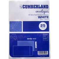 CUMBERLAND C5 ENVELOPES POCKET STRIP SEAL 85GSM 162 X 229MM WHITE PACK 25