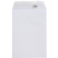 CUMBERLAND C4 ENVELOPES POCKET STRIP SEAL 100GSM 229 X 324MM WHITE PACK 25