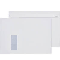 CUMBERLAND C4 ENVELOPES WINDOW FACE 100GSM SECRETIVE EASY OPEN 229 X 324MM WHITE BOX 250
