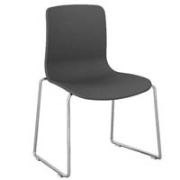 DAL ACTI CHROME SLED BASE CHAIR CHARCOAL