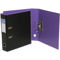 BANTEX DUET LEVER ARCH FILE 70MM A4 BLACK AND LILAC