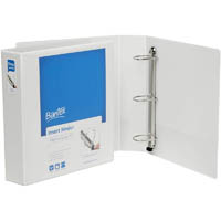 BANTEX PREMIUM PUSH LEVER INSERT RING BINDER 3R 50MM A4 WHITE