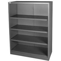 STEELCO OPEN BOOKCASE 3 SHELVES 1200 X 900 X 400MM GRAPHITE RIPPLE