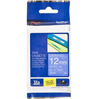 BROTHER TZE-535 LAMINATED LABELLING TAPE 12MM WHITE ON BLUE