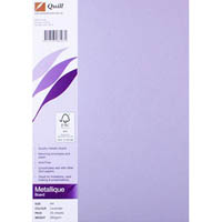 QUILL METALLIQUE BOARD 285GSM A4 LAVENDER PACK 25