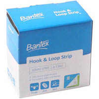 BANTEX STRIP HOOK AND LOOP 20MM X 1.8M