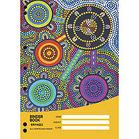 CULTURAL CHOICE BINDER BOOK 60GSM 8MM RULED 64 PAGE A4 MOTIF