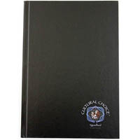 CULTURAL CHOICE NOTEBOOK HARD COVER 120 PAGE A4 BLACK