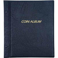 CUMBERLAND COIN ALBUM REFILLABLE PVC PADDED COVER 2 INTERSCREWS WITH REFILLS 285 X 255MM