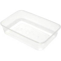 CAPRI MICROWAVABLE CONTAINERS RECTANGLE 650ML PACK 50