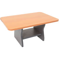 RAPID WORKER COFFEE TABLE 900 X 600MM BEECH/IRONSTONE