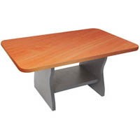 RAPID WORKER COFFEE TABLE 900 X 600MM CHERRY/IRONSTONE